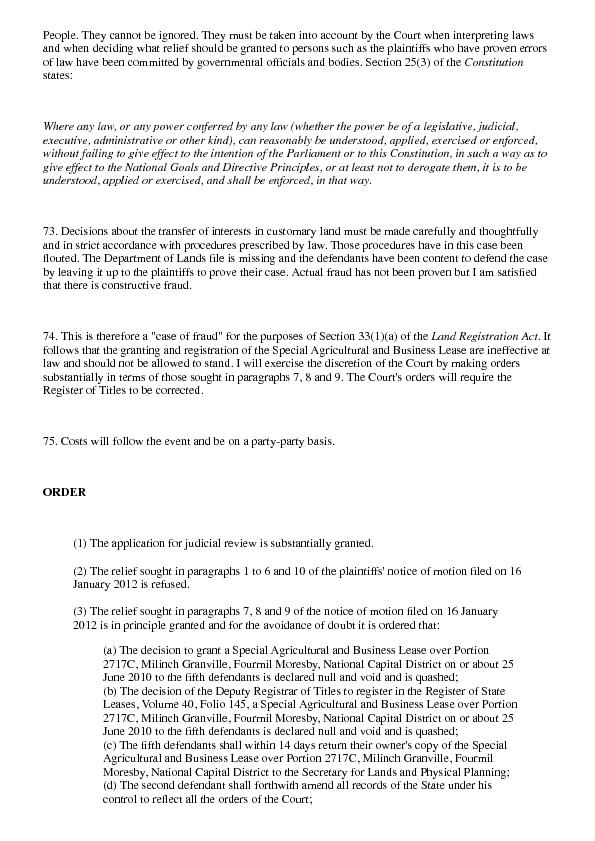 Mahuru v Dekena [2013] PGNC 97